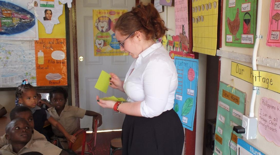 A Human Rights intern gains work experience by teaching Jamaican children about their rights.